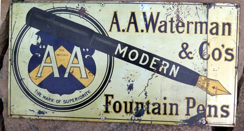 AA WAYTERMA & Co's  PORCELAIN ADVERTISING SIGN